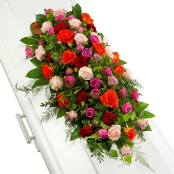 Funeral flowers - Funeral arrangement of roses
